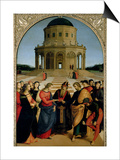 The Marriage of the Virgin, 1504 Affiches par  Raphael