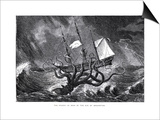The Kraken, as Seen by the Eye of Imagination, from John Gibson's Monsters of the Sea, 1887 Art by Edward Etherington
