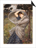 Boreas, 1903 Posters by John William Waterhouse