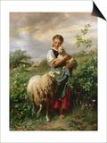 The Shepherdess, 1866 Posters par Johann Baptist Hofner
