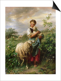 The Shepherdess, 1866 Posters by Johann Baptist Hofner