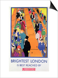 Brightest London is Best Reached by Underground, 1924, Printed by the Dangerfield Co Poster by Horace Taylor