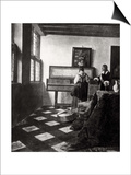 The Music Lesson, 1664 Print by Jan Vermeer