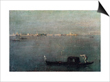 The Gondola on the Lagoon Prints by Francesco Guardi