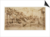 Perspective Study For the Background of the Adoration of the Magi Posters by  Leonardo da Vinci