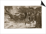 The Funeral of a Viking Print by Frank Bernard Dicksee