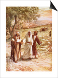 Jesus Appearing to Two Disciples on the Road to Emmaus Posters by William Brassey Hole