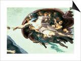 Sistine Chapel Ceiling: Creation of Adam, 1510 Poster by  Michelangelo Buonarroti
