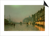 Liverpool Docks from Wapping, C.1870, Prints by  Grimshaw