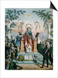 Freemasonry Instructing the People, 1875 Poster by Charles Mercereau