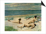 Nude Bathers on the Beach Posters by Paul Fischer