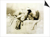 Man and Woman Making Love, Plate 2 of Liebe Art by Mihaly von Zichy