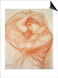 Study for 'Boreas' (Red Chalk on Tinted Paper) Prints by John William Waterhouse