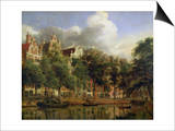 The Herengracht, Amsterdam Prints by Jan Van Der Heyden
