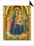 The Perugia Altarpiece, Central Panel Depicting the Madonna and Child Poster by  Fra Angelico