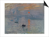Impression: Sunrise, 1872 Print by Claude Monet