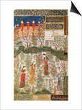 The Persian Prince Humay Meeting the Chinese Princess Humayun in a Garden, circa 1450 Posters