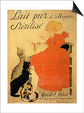Pure Sterilized Milk from La Vingeanne', 1894 (Colour Litho) Posters by Théophile Alexandre Steinlen