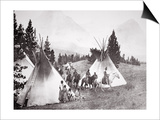 Native American Teepee Camp, Montana, C.1900 (B/W Photo) Prints by  American Photographer
