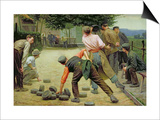A Game of Bourles in Flanders, 1911 Prints by Remy Cogghe