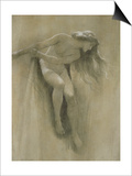 Female Nude Study (Chalk on Paper) Posters by John Robert Dicksee