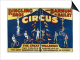 Poster Advertising the Great Wallendas at the 'Ringling Bros. and Barnum and Bailey Circus' Art by  American
