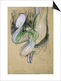 Study for Loie Fuller at the Folies Bergeres, 1893 Láminas por Henri de Toulouse-Lautrec