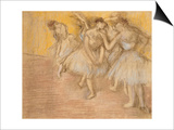 Five Dancers on Stage, C.1906-08 Poster by Edgar Degas