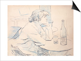 Woman Drinker, or the Hangover, 1889 Lámina por Henri de Toulouse-Lautrec