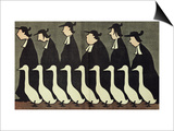 """The Geese, Anti-Clerical Caricature from """"L'Assiette au Beurre"""", 17th May 1902 Poster par Henri Gustave Jossot"""