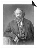 Portrait of Mikhail Aleksandrovich Bakunin circa 1860 Posters av  Nadar