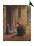 Feeding the Young, 1850 Prints by Jean-François Millet