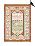The Lord's Prayer in 14 Languages Art by  English