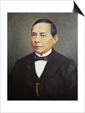 Portrait of Benito Juarez Poster by  Mexican School
