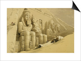 "The Great Temple of Abu Simbel, Nubia, from ""Egypt and Nubia,"" Vol.1 Posters by David Roberts"