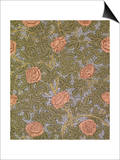 """Rose - 93"" Wallpaper Design Posters by William Morris"