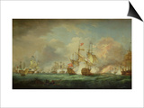 Battle of Trafalgar, 21st Oct. 1805 Prints by Thomas Whitcombe