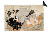 A Shunga Scene Prints by Katsukawa Shunsho
