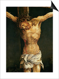 Christ on the Cross, Detail from the Central Crucifixion Panel of the Isenheim Altarpiece Plakater af Matthias Grünewald