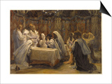 The Communion of the Apostles, Illustration for 'The Life of Christ', C.1884-96 Prints by James Tissot