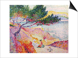 La Plage de Saint-Clair, 1906-07 Art by Henri Edmond Cross