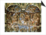 Sistine Chapel: the Last Judgement, 1538-41 Print by  Michelangelo Buonarroti