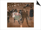 Dancing at the Moulin Rouge: La Goulue and Valentin Le Desosse 1895 Art by Henri de Toulouse-Lautrec
