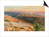 Jerusalem from the Mount of Olives, 1859 Prints by Edward Lear