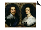 Charles I of England and Queen Henrietta Maria Kunstdrucke von Sir Anthony Van Dyck