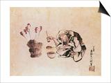 Craftsman Painting Toys Poster by Katsushika Hokusai