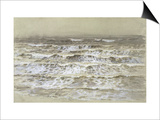 Study of Waves (Grey and Brown Wash, Gouache and Graphite on Paper) Posters by Samuel Palmer