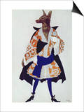Costume Design For the Wolf, from Sleeping Beauty, 1921 Art by Leon Bakst