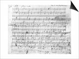 Autograph Score Sheet For the 10th Bagatelle Opus 119 Art by Ludwig Van Beethoven