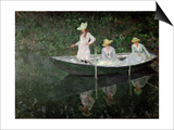 The Boat at Giverny, circa 1887 Prints by Claude Monet